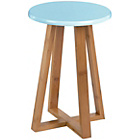 more details on Premier Housewares Viborg Round Bamboo Stool - Blue.