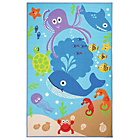 more details on Kiddy Under The Sea Rug - 100x160cm - Blue.