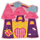 more details on Kiddy Play Fairytale Castle Rug - 90x90cm - Multicoloured.