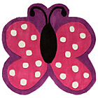 more details on Kiddy Play Polka Butterfly Rug - 90x90cm - Multicoloured.