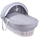 more details on Clair de Lune Silver Lining Wicker Basket - White.