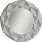 more details on Premier Housewares 3D Effect Circular Wall Mirror - Grey.
