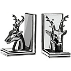 more details on Premier Housewares Deer Head Bookends - Silver.