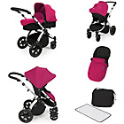 more details on Ickle Bubba Stomp V2 Pink on Silver Travel System.