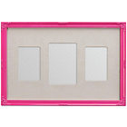 more details on Premier Housewares 3 Photo Frame - Pink.