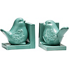 more details on Premier Housewares Bird Bookends - Turquoise.