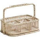 more details on Premier Housewares Rustic Rattan Bamboo Caddy Basket White.