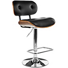 more details on Premier Housewares Bentwood Leather Bar Chair - Black.