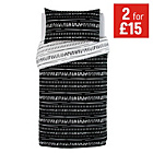 more details on HOME Sticks Black and White Bedding Set - Single.