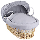 more details on Clair de Lune Waffle Grey Wicker Moses Basket - Natural.
