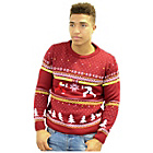 more details on Street FighterL Ken Vs Ryu Mens' Xmas Jumper - Large.