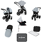 more details on Ickle Bubba Stomp V3 with Isofix Base Travel System - Silver