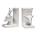 more details on Premier Housewares Deer Bookends - White.