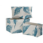 more details on Premier Housewares Echo Set of 3 Storage Boxes - Blue.