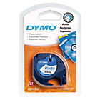 more details on DYMO LetraTag Tape 12mm - Plastic/White.
