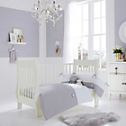 more details on Clair de Lune Silver Lining Cot Bedding Set - Grey.