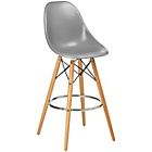 more details on Premier Housewares Bar Chair with Wooden Legs - Grey.