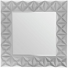 more details on Premier Housewares 3D Effect Square Wall Mirror - Grey.