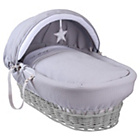 more details on Clair de Lune Silver Lining Wicker Basket - Grey.