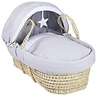 more details on Clair de Lune Silver Lining Palm Moses Basket - Grey.