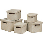more details on Premier Housewares Pandanux Set of 5 Boxes - White.