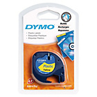 more details on DYMO LetraTag Tape 12mm - Plastic/Yellow.