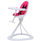 more details on Ickle Bubba Orb Pink on White Highchair.