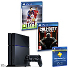 more details on PS4 500GB Console, COD: Black Ops 3, FIFA 16, 12 Month PSN.