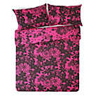 more details on HOME Evelyn Black and Pink Bedding Set - Double.