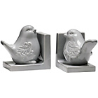 more details on Premier Housewares Bird Bookends - Grey.
