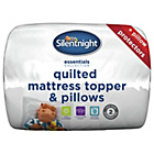 more details on Silentnight Mattress Topper and Pillow Set - Single.