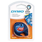 more details on DYMO LetraTag Tape 12mm - Plastic/Red.