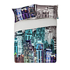 more details on HOME Neon New York Skyline Bedding Set - Double.
