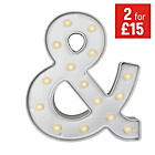 more details on HOME Ampersand Light - Silver.