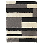 more details on Collection Noble Block Shaggy Rug - 160x230cm - Grey.