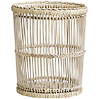 more details on Premier Housewares Rustic Rattan Bamboo Waste Bin - White.