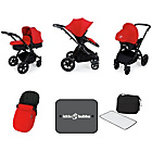 more details on Ickle Bubba Stomp V3 Red on Black Travel System.