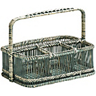 more details on Premier Housewares Rustic Rattan Bamboo Caddy Basket Grey.