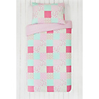 more details on Collection Patchwork / Stripe Twin Pack Bedding Set-Toddler