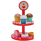 more details on Chad Valley Wooden Cake Stand - Red.