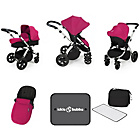 more details on Ickle Bubba Stomp V3 Pink on Silver Travel System.