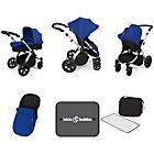 more details on Ickle Bubba Stomp V3 Blue on Silver Travel System.