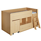 more details on Quibrick Storage Midsleeper with Bibby Mattress - Oak.