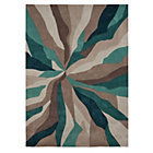 more details on Collection Starburst Hand Tufted Rug - Teal.