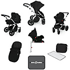 more details on Ickle Bubba Stomp V3 with Isofix Base Travel System - Black.