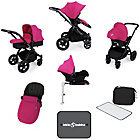 more details on Ickle Bubba V3 with Isofix Base Travel System - Pink/Black.