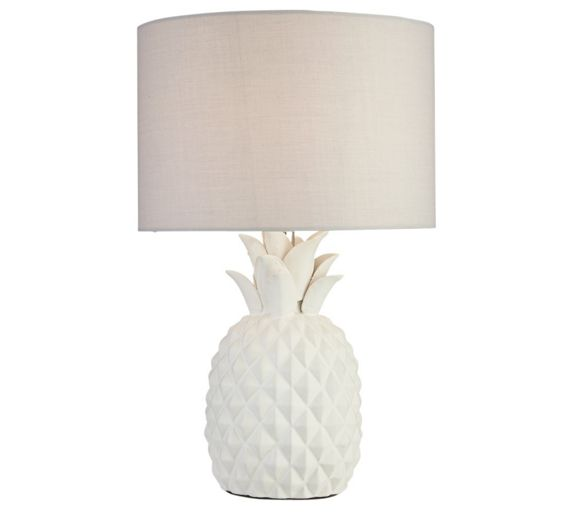 Buy Heart of House Algard Pineapple Table Lamp - White at Argos.co.uk - Your Online Shop for ...