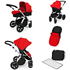 more details on Ickle Bubba Stomp V2 Red on Silver Travel System.