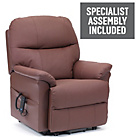more details on Lars Riser Recliner Chair with Dual Motor - Burgundy Leather