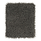 HOME Faux Flokati Rug - Grey